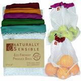 Naturally Sensible Eco-Friendly Produce Bags, Set of 5