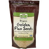 Now Foods Certified Organic Golden Flaxseeds, 16-Ounce (Pack of 2)